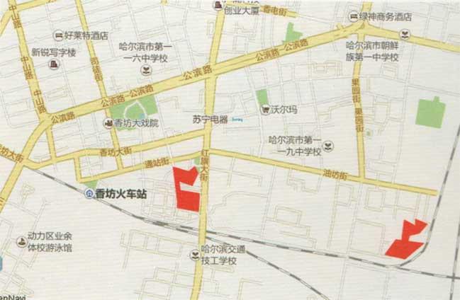 哈轴集团项目二  该项目共涉及红旗大街主厂区、油坊分厂2个地块,拟供应总面积198000平方米。